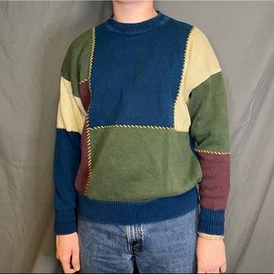 Structure Color Block Sweater